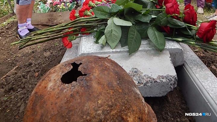 Под Красноярском захоронили погибшего в начале войны в Карелии советского солдата