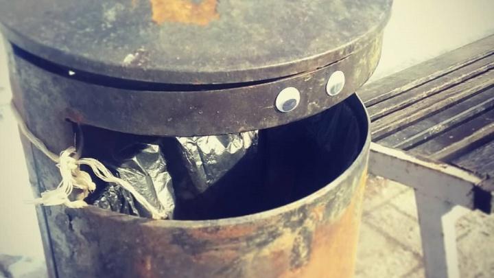 «Борюсь с мусором. Не пью»: волгоградская урна Валера решила баллотироваться в губернаторы