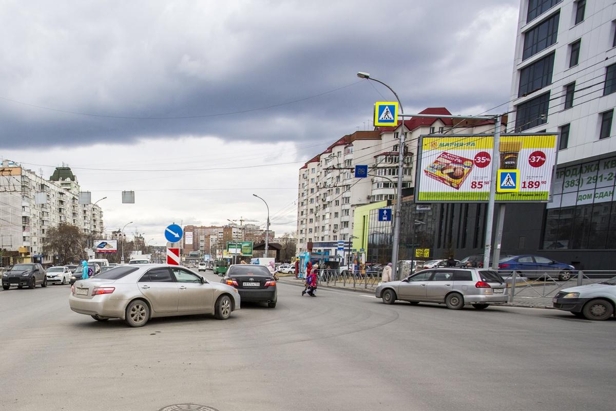 Консольная опора на перекрёстке ул. Нарымской и ул. 1905 года