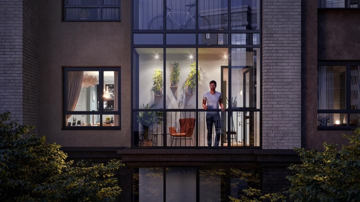 На Фрунзе достраивают новый жилой комплекс— вместо скамеек во дворе здесь подиумы