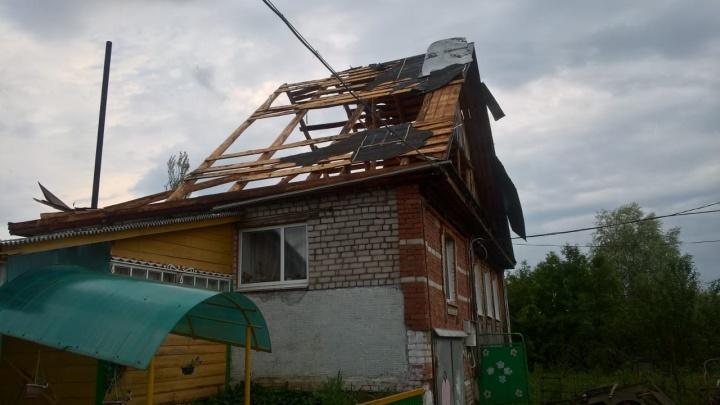Сорвало крыши с домов: по Башкирии пронесся ураган