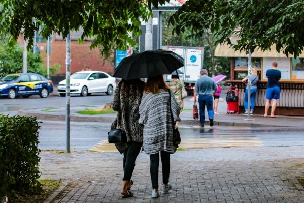 Первая рабочая неделя октября будет дождливой и иногда солнечной