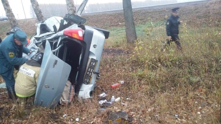 Вылетел с мокрой дороги: на трассе в Башкирии произошло смертельное ДТП