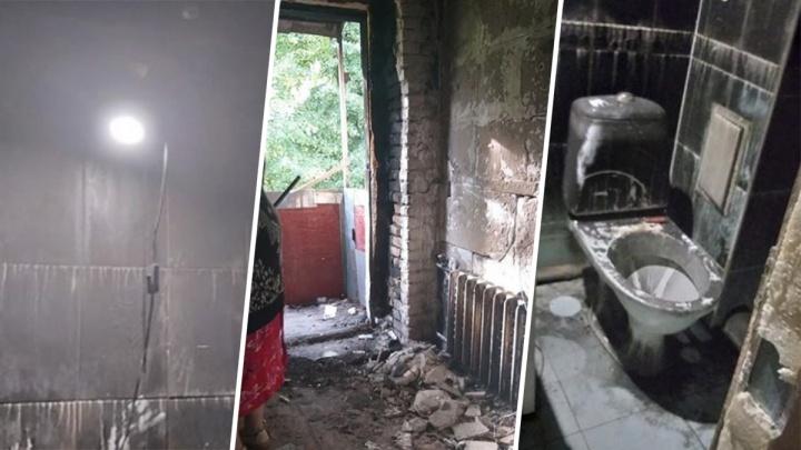 Безжалостные соседи: оставшуюся без крова пенсионерку хотят засудить за пожар в её квартире