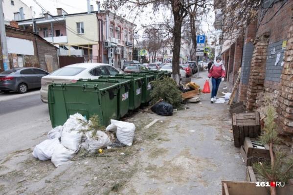 В Ростовской области мусорных контейнеров в два раза меньше норматива