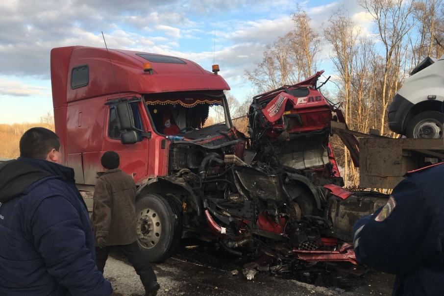 Авария произошла на трассе М-5 в районе Аши