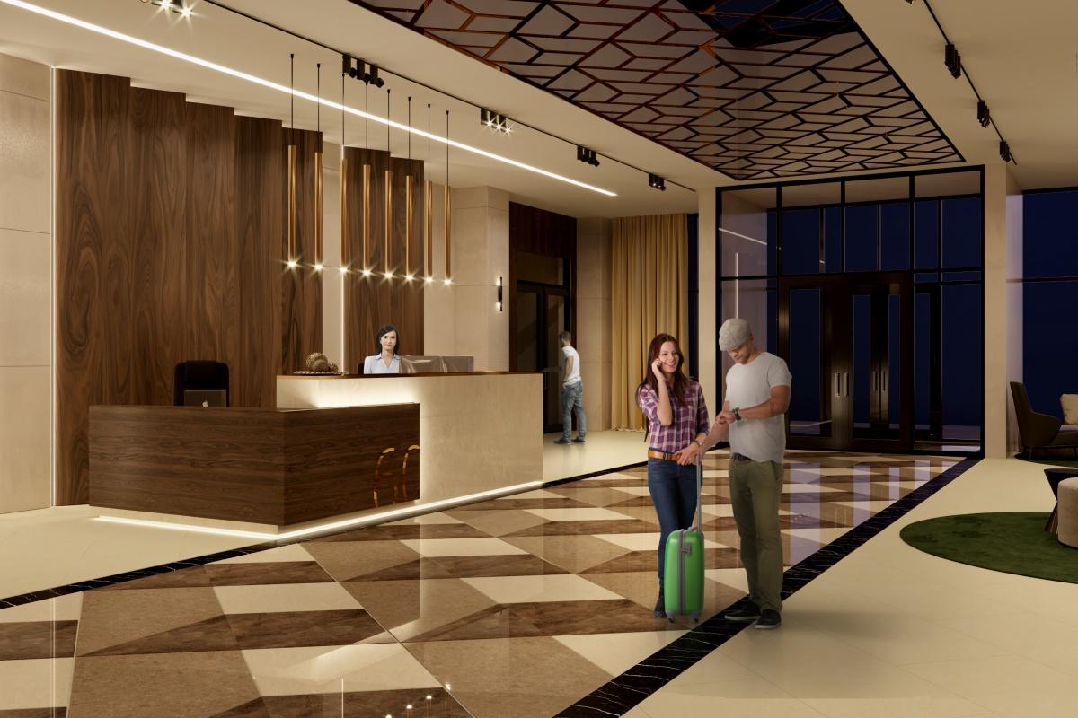 Вестибюль дома больше похож на загородный клуб или европейский отель