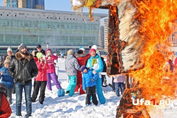 Обязательный ритуал — сжигание чучела зимы