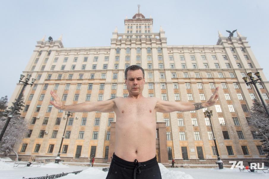 Сегодня Олегу Резанову исполнилось 45 лет, из них около 20 лет он занимается закаливанием