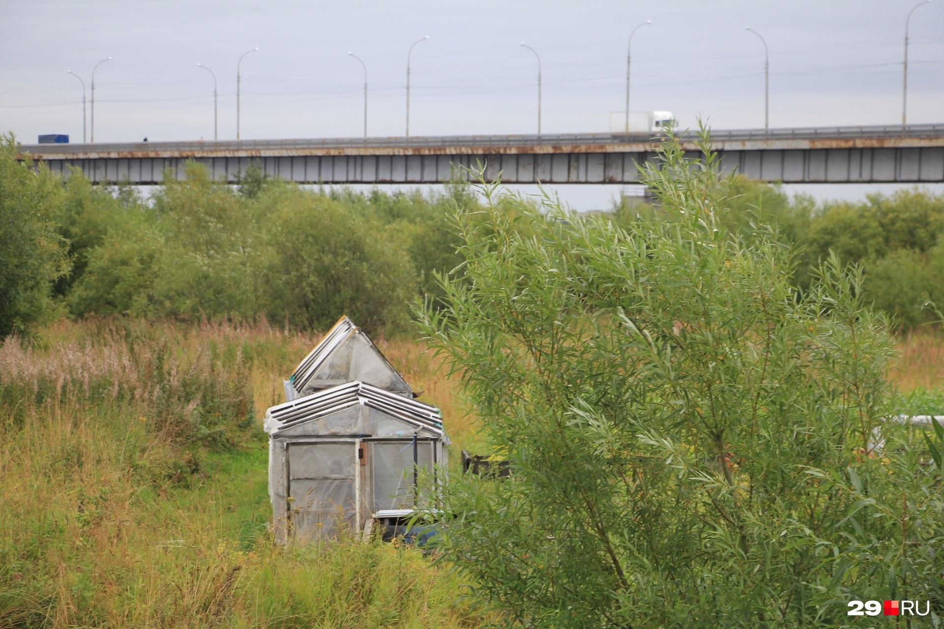 Мост для связи с Архангельском был построен в 1990 году