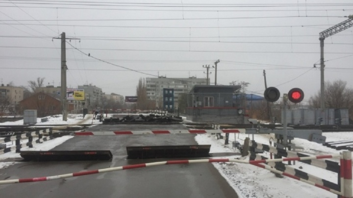 В Волгограде переезд на Тулака закрыли до 1 марта