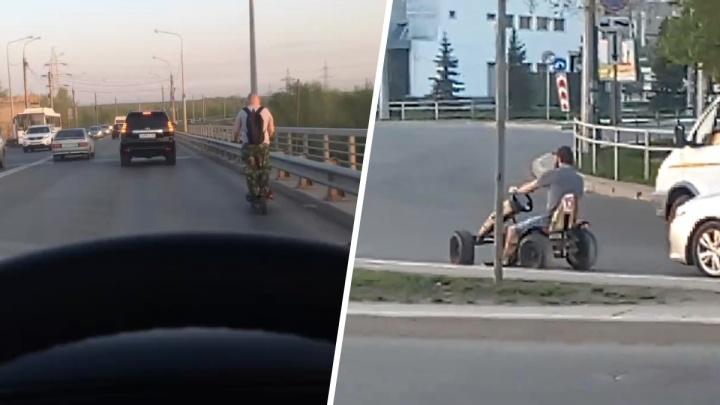 «Качу куда хочу»: самарцы сняли необычные транспортные средства на трассах