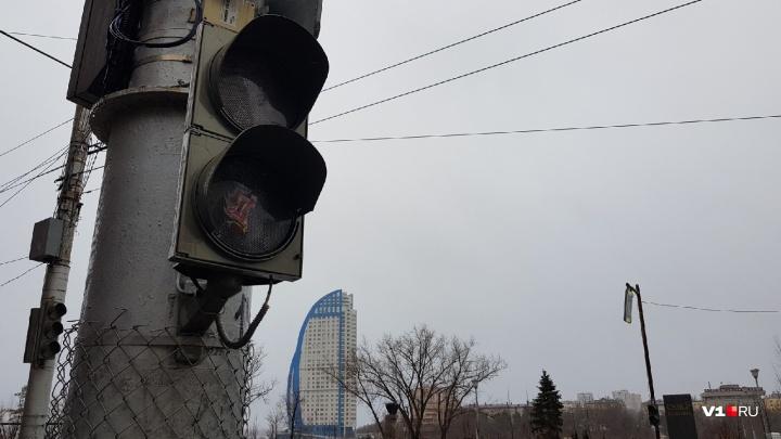 Стихия разгулялась: в Волгограде штормовой ветер крушит деревья и массово отключает светофоры