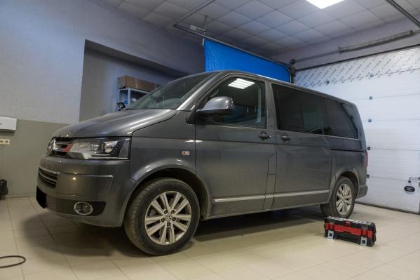 Volkswagen Multivan вооружен до зубов