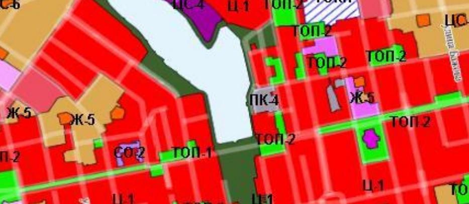Зеленая полоса слева от Городского пруда —это сквер, часть которого хотят отдать под религиозный объект