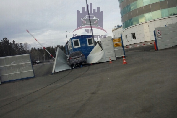 Авария произошла рядом скомандно-диспетчерским пунктом