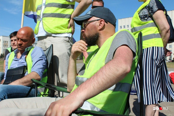 Дмитрий Секушин на «Экобессрочке» на площади Ленина