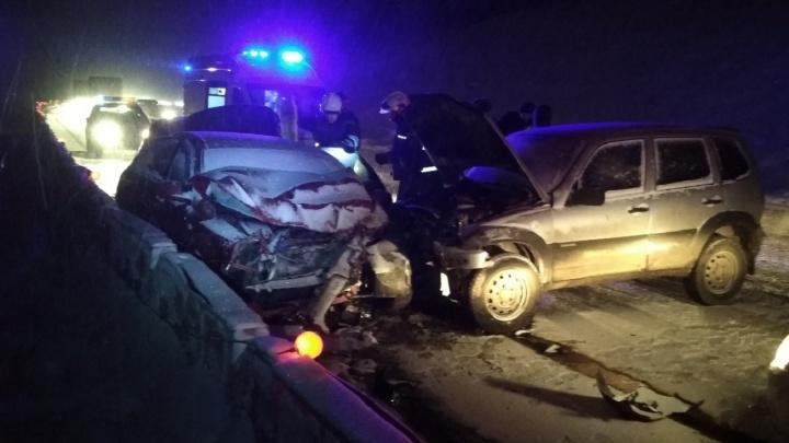 В массовой аварии на Восточном обходе Перми пострадали три человека