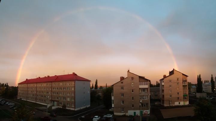 Уфимцы увидели радугу на рассвете