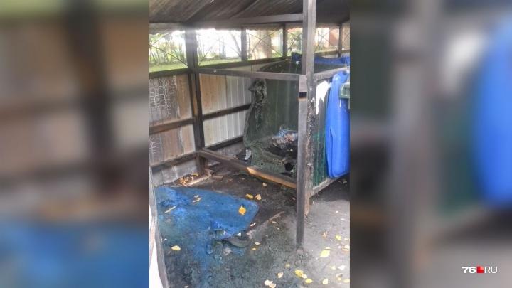 Взяли на слабо. 13-летний школьник на спор сжёг мусорные контейнеры«Хартии» в Ярославле