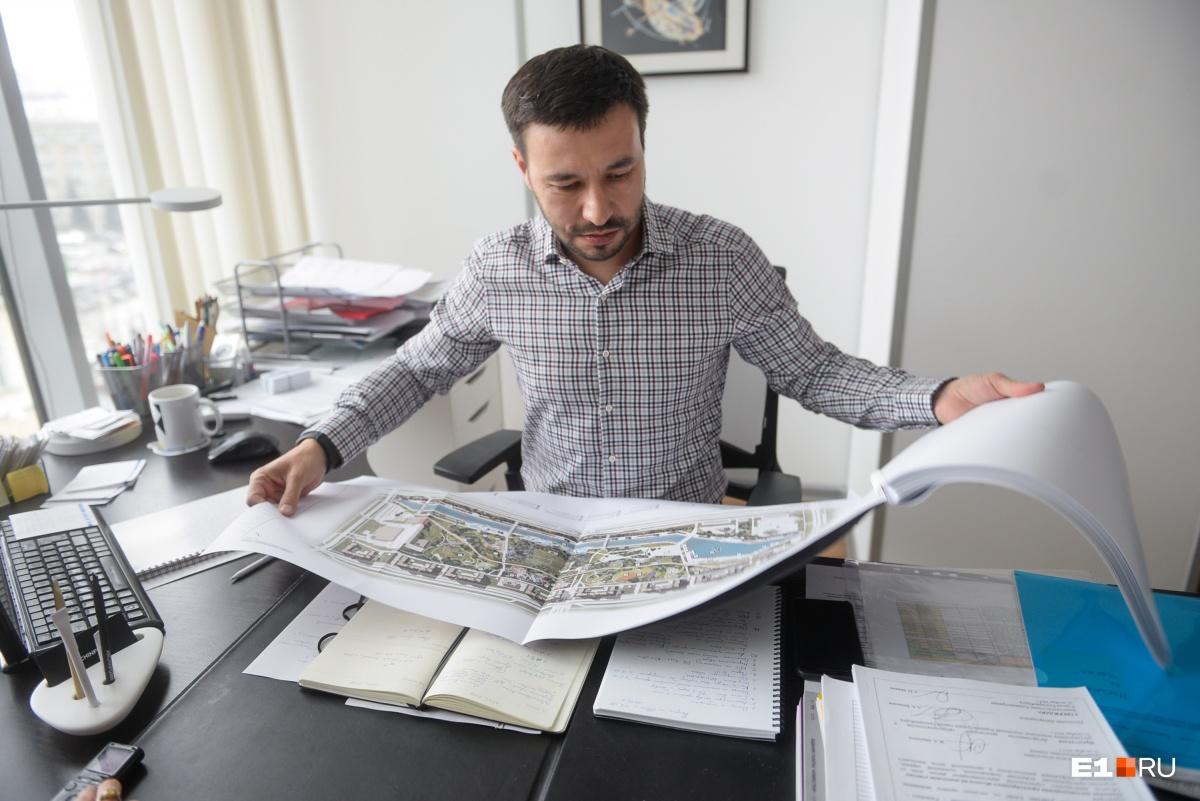 Концепцию разработало  бюро бывшего главного архитектора Екатеринбурга Тимура Абудуллаева