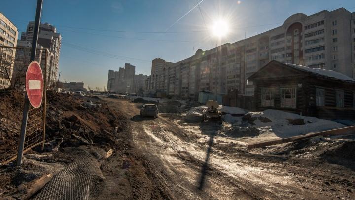 Обновлённую улицу Татищева откроют для транспорта в октябре