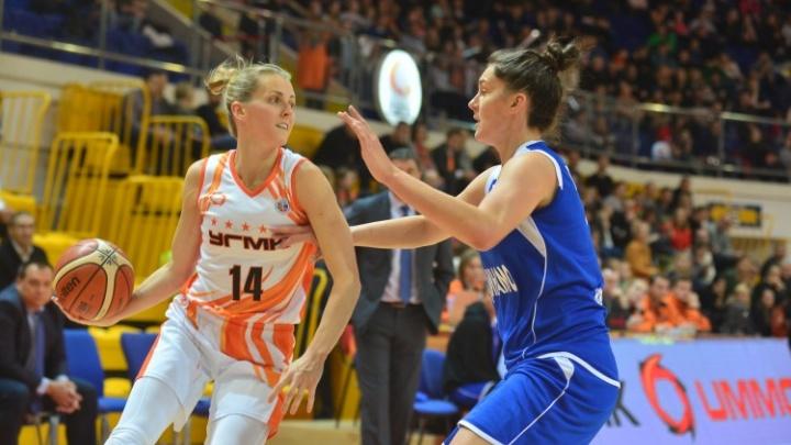 Баскетболистки УГМК расправились с соперницами из Новосибирска в Екатеринбурге