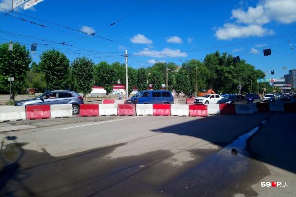 Половина дороги уже перекрыта с начала июля