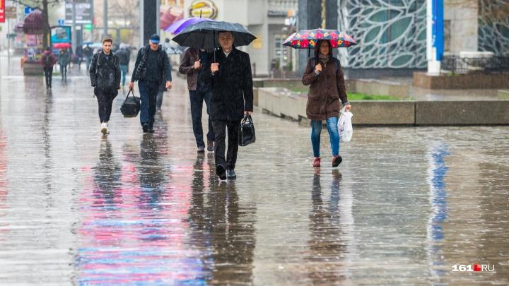 Легко исправить с помощью зонта: горожане спешат по делам, несмотря на дождь