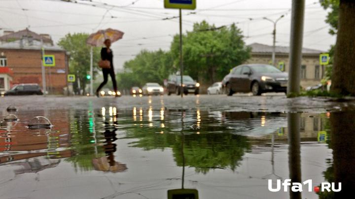 В Башкирии в воскресенье будет лить, как из ведра