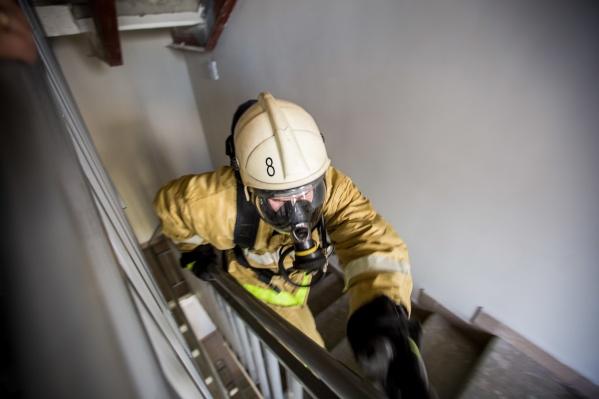 Пожар произошёл на 8-м этаже