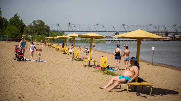 Изнывающие от жары новосибирцы открыли пляжный сезон