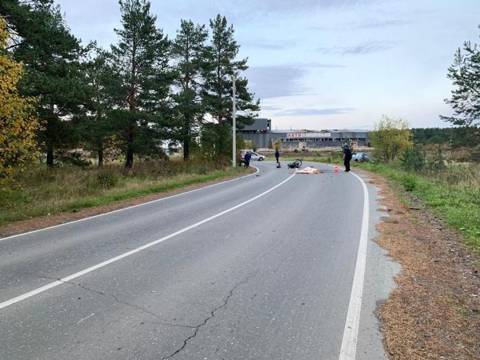 Мотоциклист погиб на месте