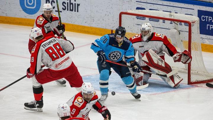 Победа по буллитам: хоккейная «Сибирь» обыграла екатеринбургский «Автомобилист»
