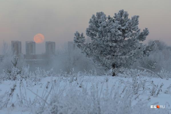 По-настоящему зимние морозы пришли на Урал только в конце декабря
