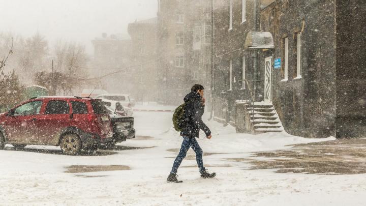 Город во мгле: 12 фото внезапной ноябрьской метели