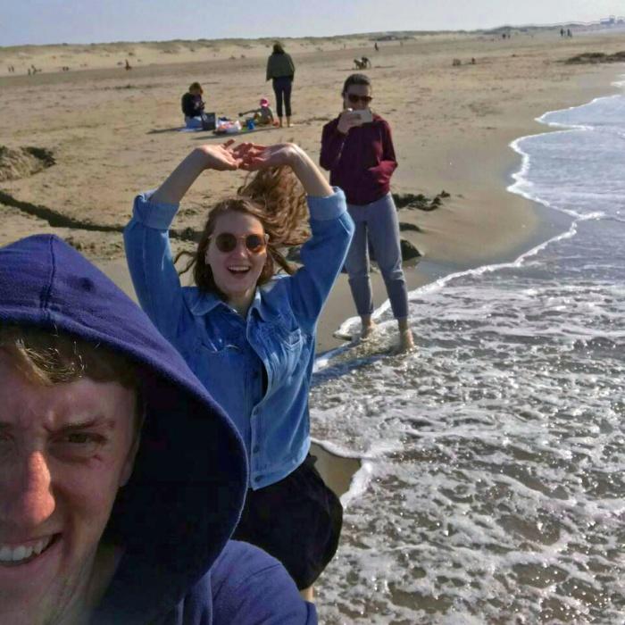 Иван и Нина на море в Гааге