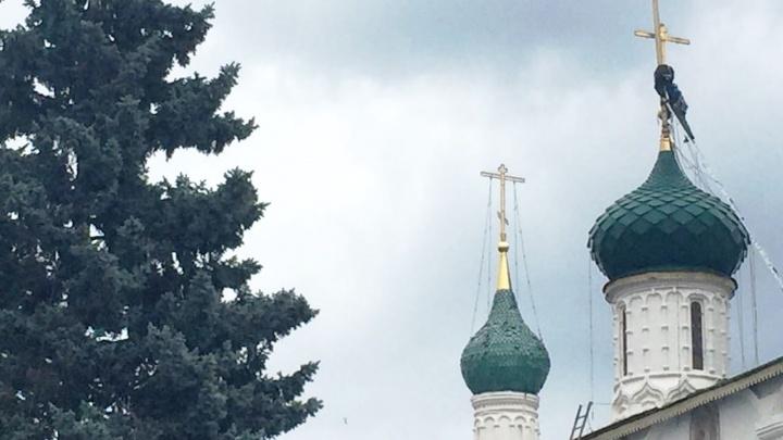 На реставрацию крестов храма Ильи Пророка в Ярославле потратят миллионы Собянина. Сколько
