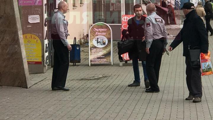 Слышали выстрелы: в центре Челябинска охранники Сбербанка устроили разборку с клиентом