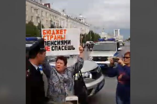 На акции в ЦПКиО никого не задержали, в то время как часть активистов решили без согласования выйти у кинотеатра «Россия»