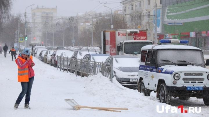 Снега выпало чуть-чуть: как уфимцы пережили первую зимнюю метель