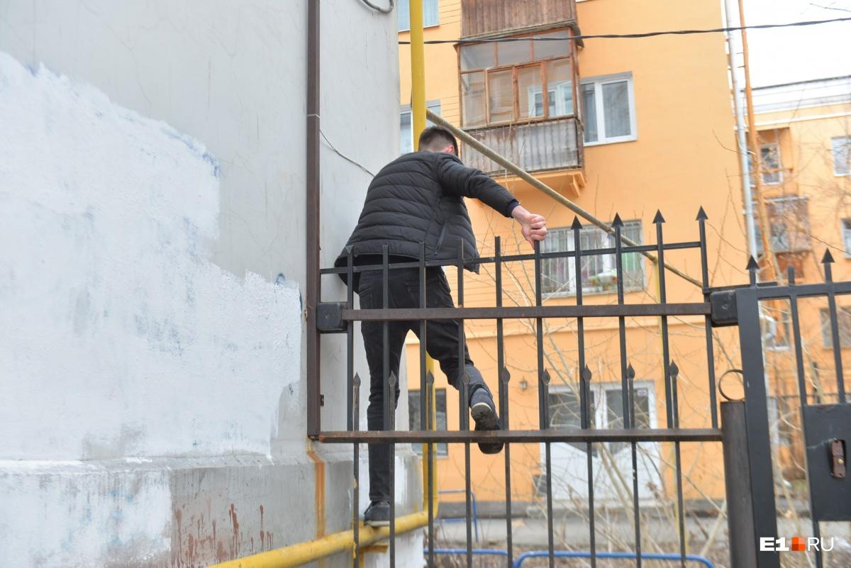 Попасть в охраняемый двор без ключа оказалось несложно