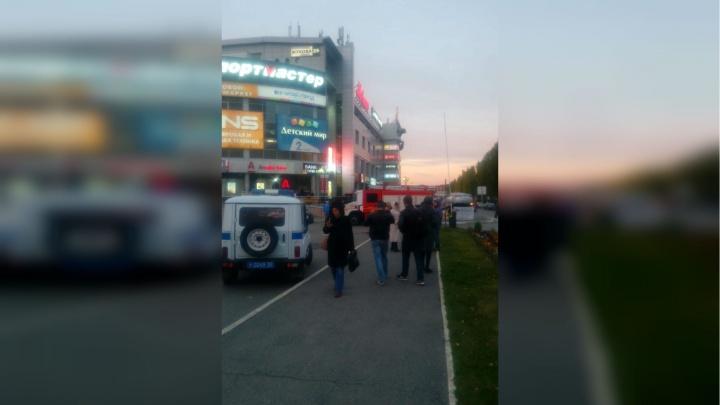 В Уфе задымился торговый центр «Простор»