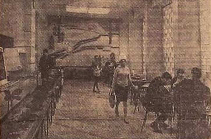 Первые посетители кафе «Рубина»