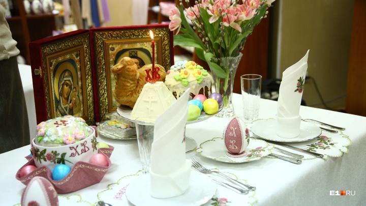 Сестры Ново-Тихвинского монастыря показали правильный пасхальный стол