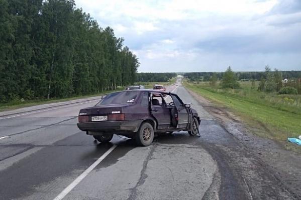 В аварии на Северном объезде столкнулись три автомобиля