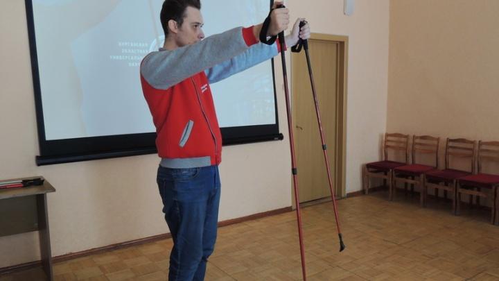 В библиотеке имени А. К. Югова в Кургане начал работать клуб любителей скандинавской ходьбы