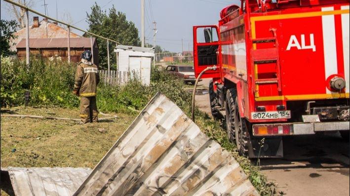 Трое маленьких детей погибли в пожаре в Новосибирской области
