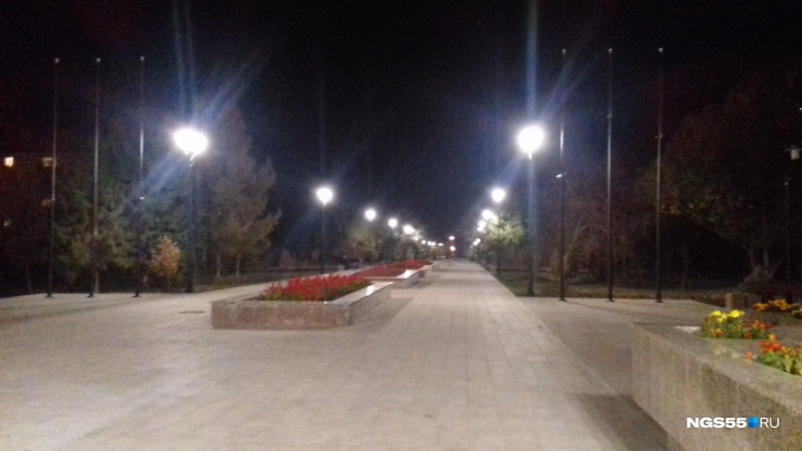 Мэр Омска объяснила, почему нет света на бульваре Победы