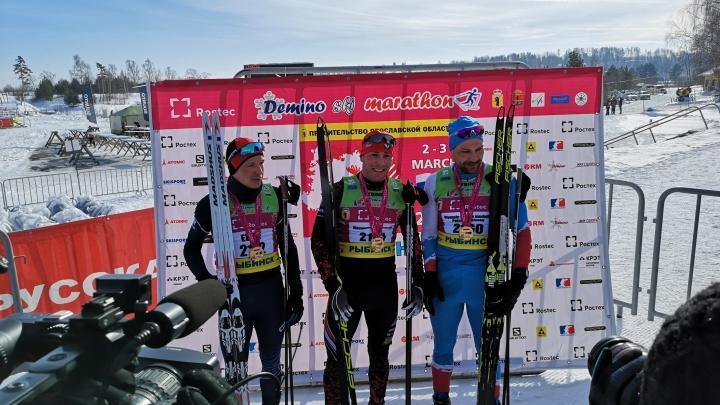 Российские лыжники завоевали золото на международном Дёминском марафоне. Как это было
